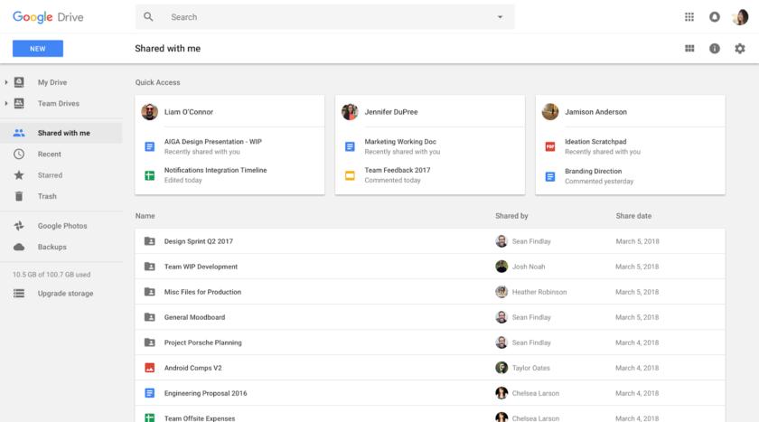 Google Drive Smart Working